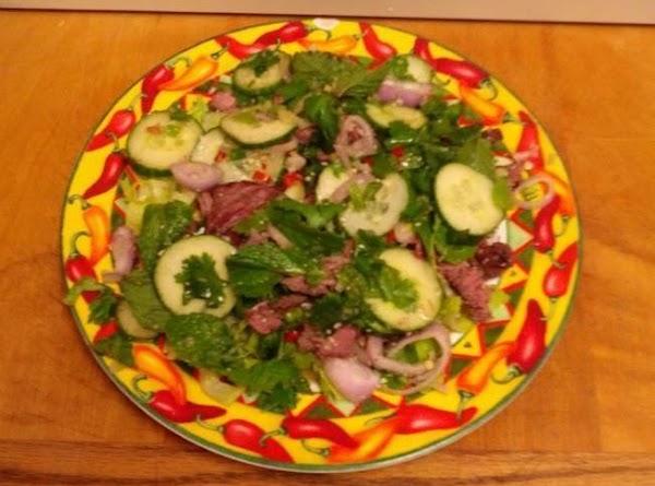 Yum Neau Nam Tok    (grilled Beef Salad) Recipe