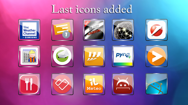 Glass Icon Pack Nova Theme Change Icons Screenshot 4