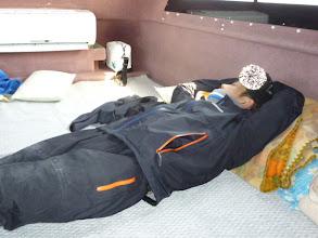 Photo: ・・・昨日食べたアスパラをリバース。 船酔いです。