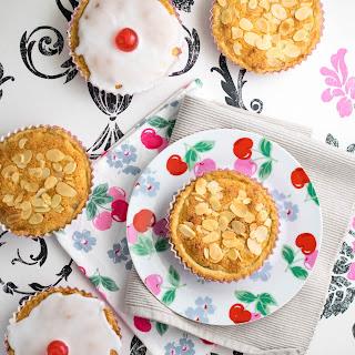 Mini Vanilla Pastry Bing Cherry Bakewells