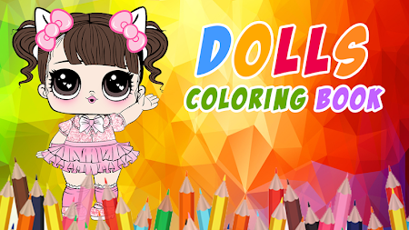 Dolls Coloring Book Pages For Girls APK screenshot thumbnail 5