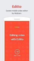 screenshot of Editto - Mobizen video editor, game video editing