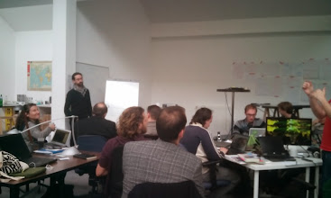 Photo: Second day for the OuiShare Lab Camp, morning starting the working sessions.