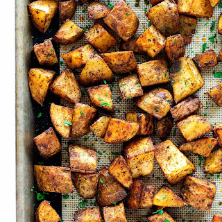 Roasted Russet Potatoes.