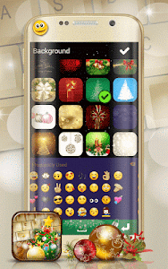 Christmas Emoji Keyboard Theme screenshot 4