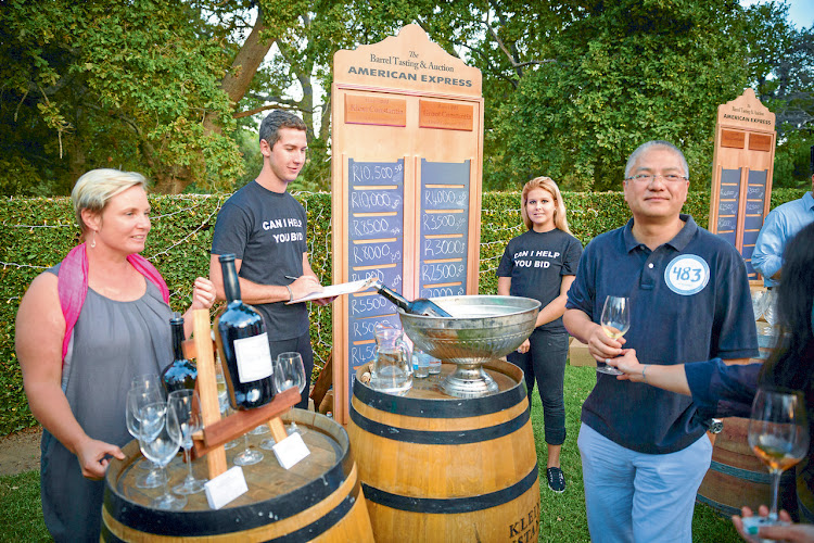 Cape Wine Auction 2016: American Express barrel auction. Picture: SUPPLIED