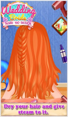 Wedding Bride Hair Do Design screenshot
