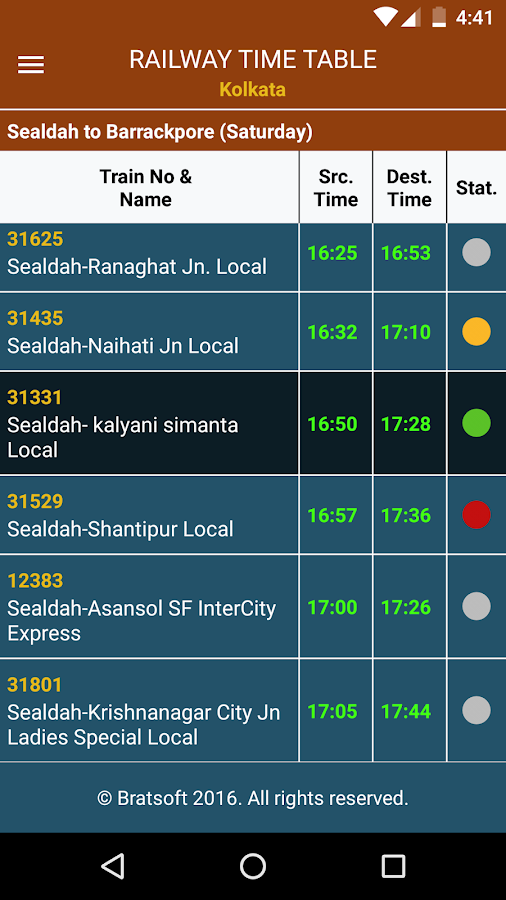RTT Kolkata: Best Offline Railway Time Table- screenshot