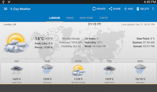 Weather & Clock Widget Android for PC