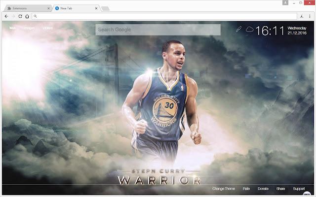 NBA Stephen Curry Wallpapers HD Custom NewTab