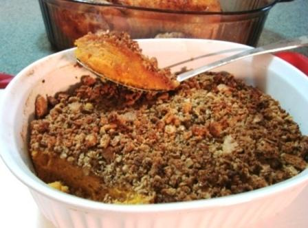 Sweet Potato Bake With Granola Graham Topping Recipe
