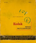 Omslag van Kodak fotopapier met tekst van het boek