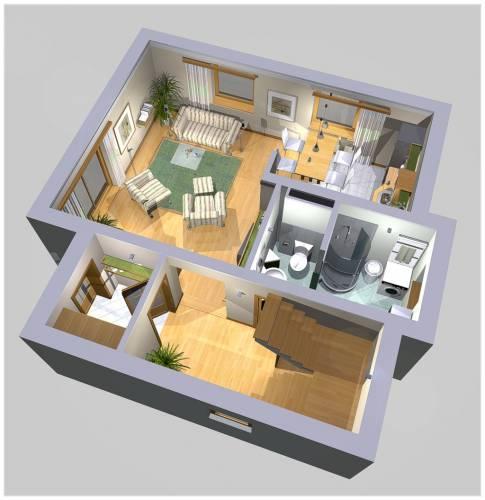 APS 123 - Rzut parteru 3D