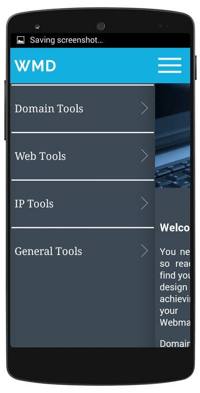 Web Master App- screenshot