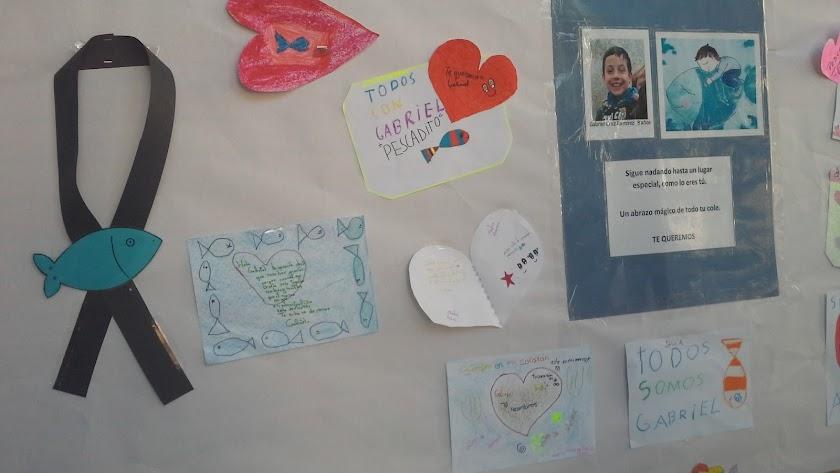 Dibujos dedicados al pequeño Gabriel.