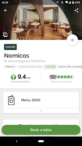 TheFork - Restaurants booking and special offers screenshots 1