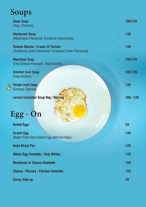 Ecstacy Bar n Eatery menu 5