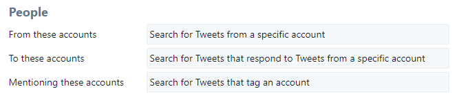 """Twitter Advanced Search """"People"""" section"""