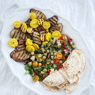 Chickpeas and Grilled Vegetables Salad with Za'atar Vinaigrette