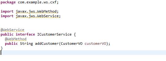 Define methods in Interface