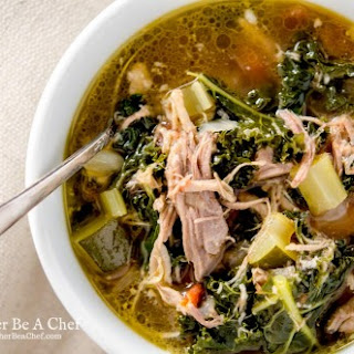 Healthy Pulled Pork Soup.