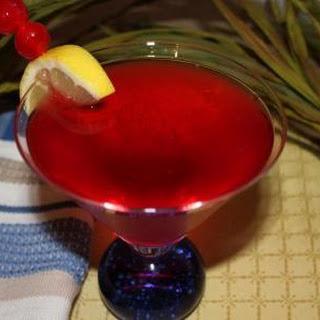 """A Red Hat """"Scarlett Flozzie"""" Vodka Martini."""
