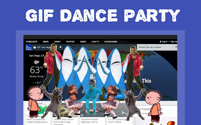 GIF Dance Party Extension