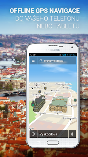 GPS NACESTY - offline navigace screenshot