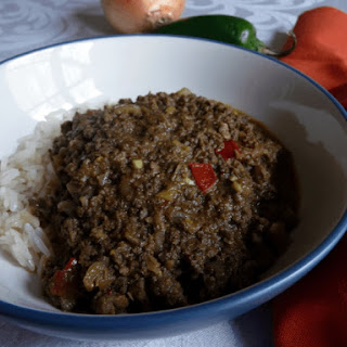 Ground Beef Curry.