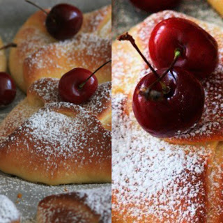 Envelopes With Cottage Cheese And Cherries