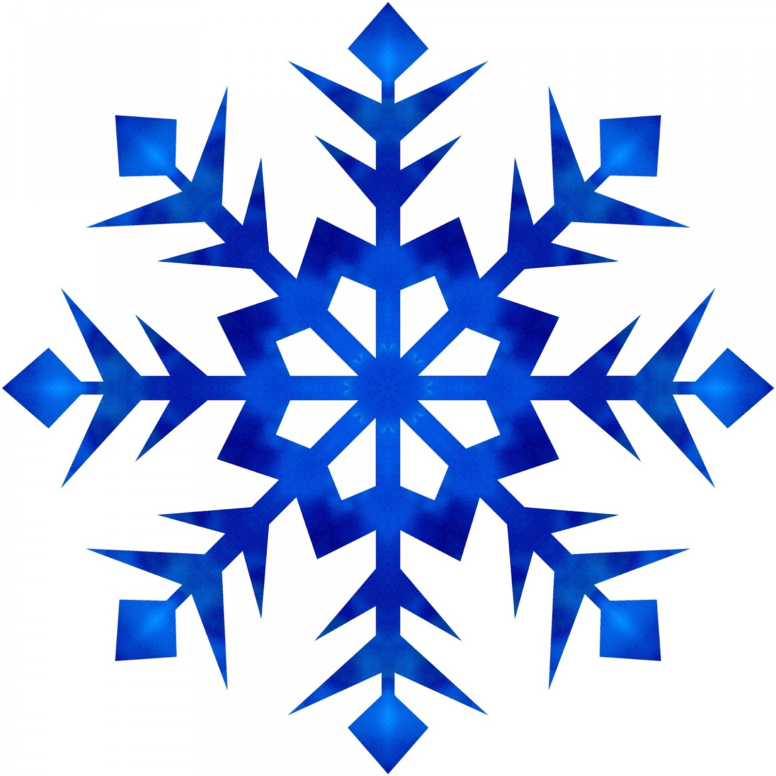 Blue Drop Snowflake