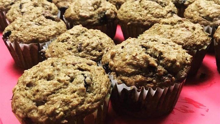 Whole Wheat Blueberry Beet Muffins