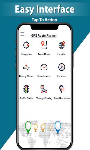 GPS Navigation Route Finder u2013 Map & Speedometer 1.0.6 screenshots 7