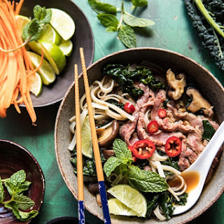 Quick Cleansing Kale and Mushroom Pho. Recipe