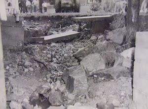 Photo: Debris piled up everywhere.