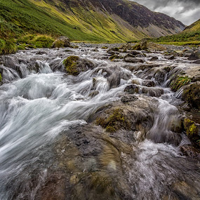 Rush  by Lester Woodward - Landscapes Waterscapes ( boulders, waterfall, honister pass, stones, lake district, river,  )