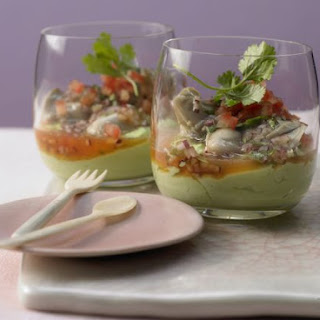 Marinated Oysters in Avocado Cream