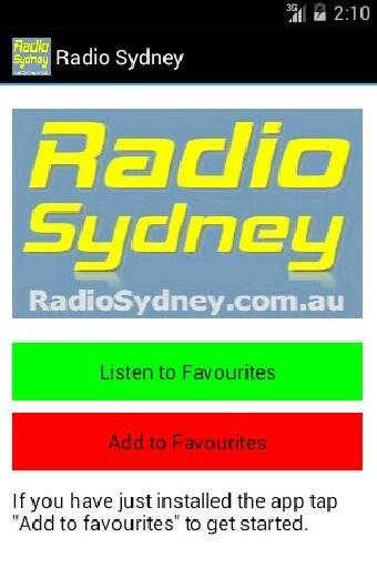 Radio Sydney- screenshot