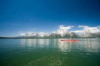 Photo: Kayaking on Jackson Lake. Grand Teton NP, WY