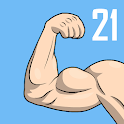 Arm & Back workout at home -  21 Day Challenge icon