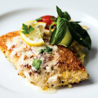 Parmesan and Panko Encrusted Whitefish with Lemon Caper Sauce.