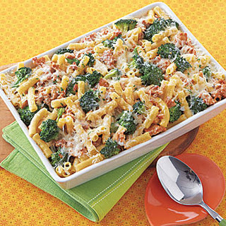 Baked Ziti with Broccoli and Sausage.