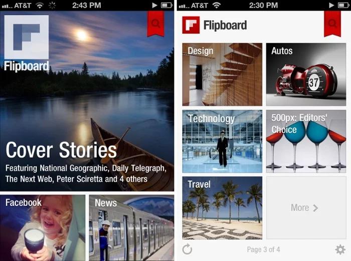 flipboard curation de contenu