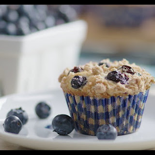 Blueberry Muffins with Streusel Crumb Topping Recipe