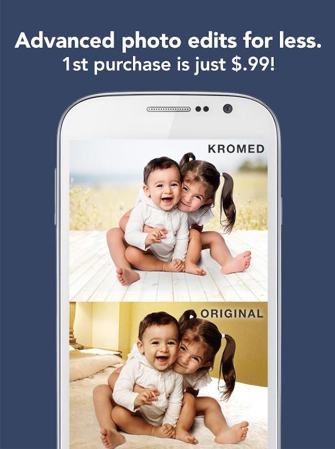 صور تطبيق لتغيير خلفيات الصور والتعديل عليها Krome