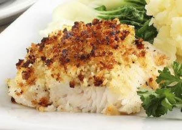 Parmesan Lemon Crusted Flounder With Green Beans Recipe
