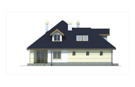Aksamit wersja A z podwójnym garażem - Elewacja lewa