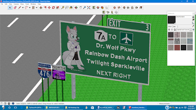 """Photo: Sign for exit 3 on I-476 (P. Twilight Sparkle Fwy) for Dr. Wolf Pkwy (NY 7A). This road is now I-686/I-81 and called """"Cute Stitch Exwy""""  Named after the youtuber / MLPFIM Youtuber Dr.Wolf (DrWolf001) (http://www.youtube.com/user/DRWolf001)  [Dr.Wolf Vector (C) Vector-Brony on DA] [Dr.Wolf Character (C) DrWolf001 on YT]   [Creative Commons License] Work found at http://vector-brony.deviantart.com/art/Dr-Wolf-495902913 / CC BY-NC-ND 3.0 (http://creativecommons.org/licenses/by-nc-nd/3.0/)"""