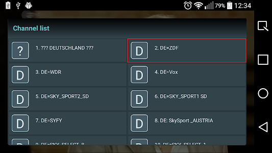 IPTV player screenshot 1