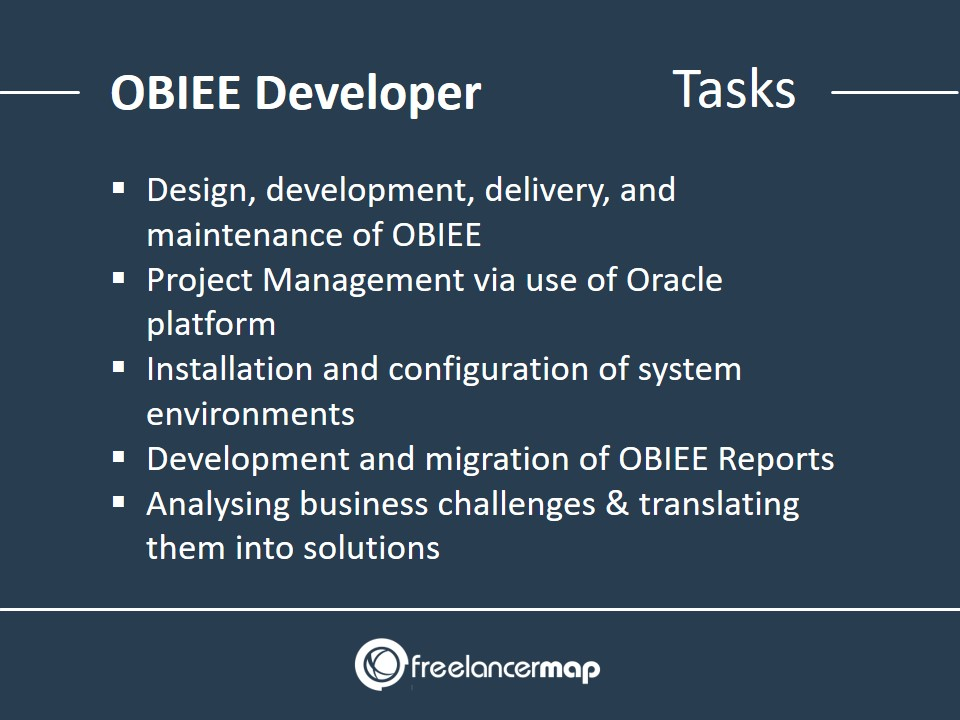 OBIEE Developer - Tasks and Responsibilities